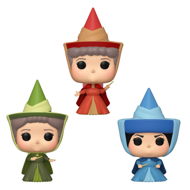Disney: Flora, Fauna & Merrywather - Pop! Vinyl 3-Pack