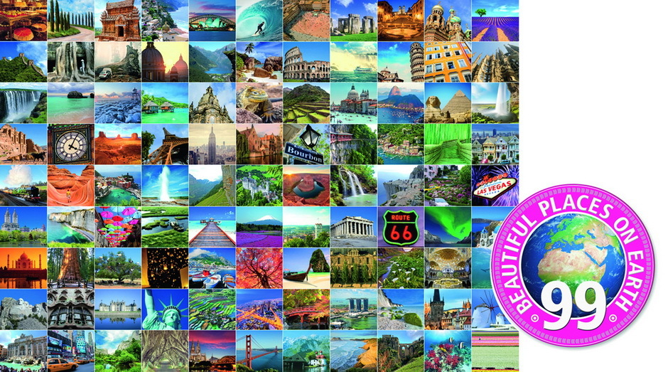 Ravensburger 99 Most Beautiful Places Puzzle 1000pc Toy At Mighty Ape Australia