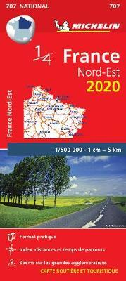 Northeastern France - Michelin National Map 707