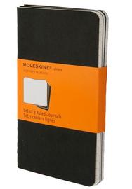 Moleskine Ruled Cahier - Set 3 Notebooks (Pocket, Soft, Black)