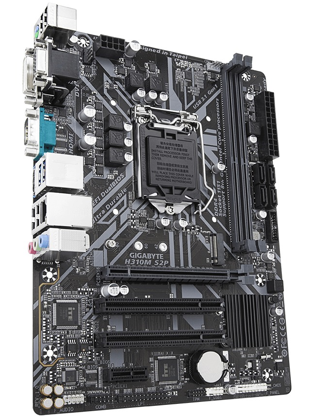 Gigabyte H310M S2P MATX Motherboard image