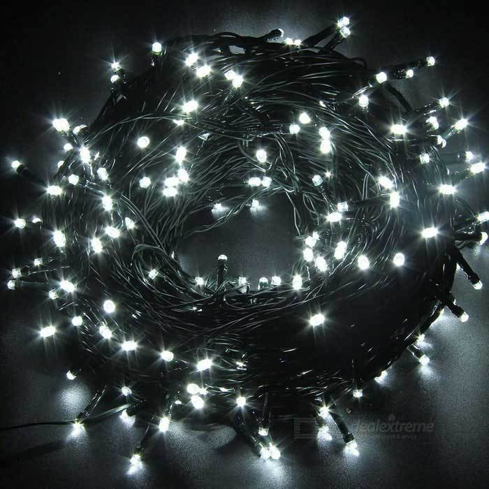 Solar String Lights - 200 LED Cool White Fairy Lights image