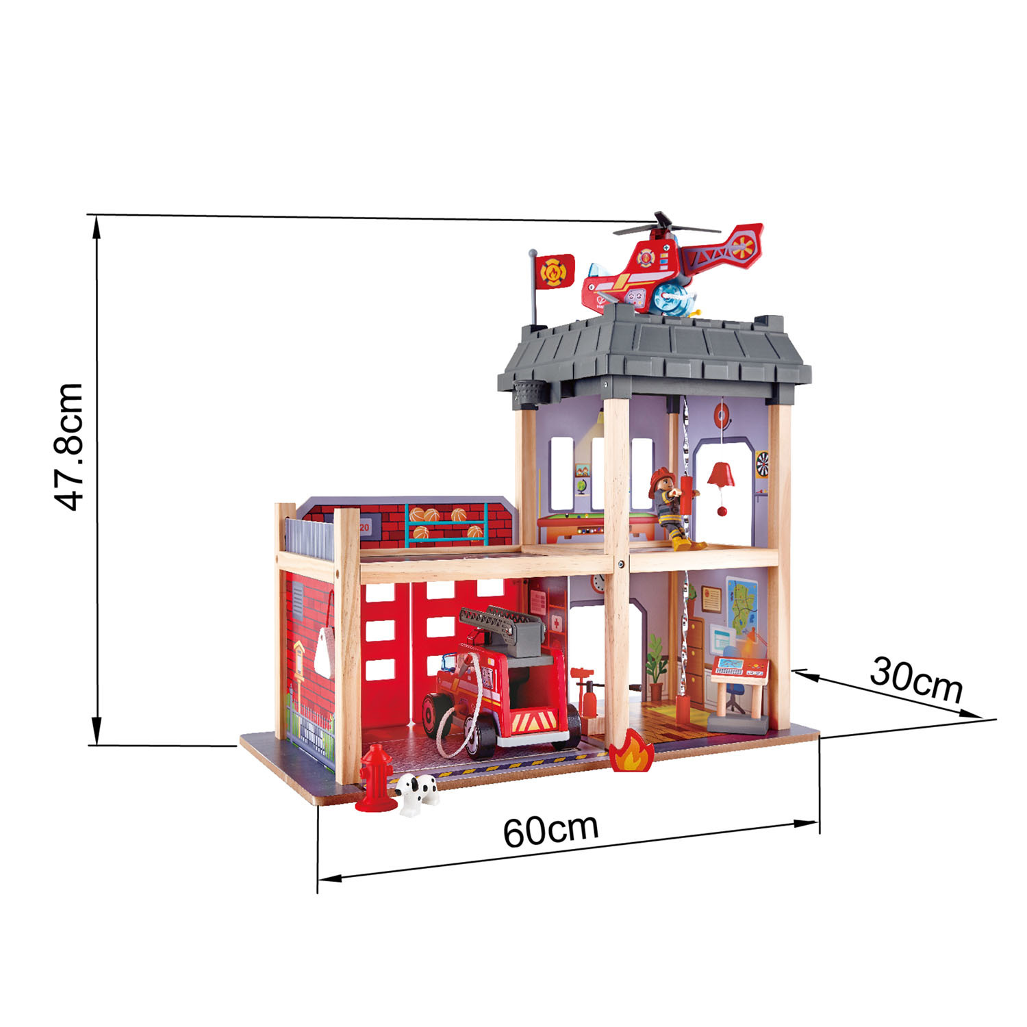 Hape: Fire Station Wooden Playset image
