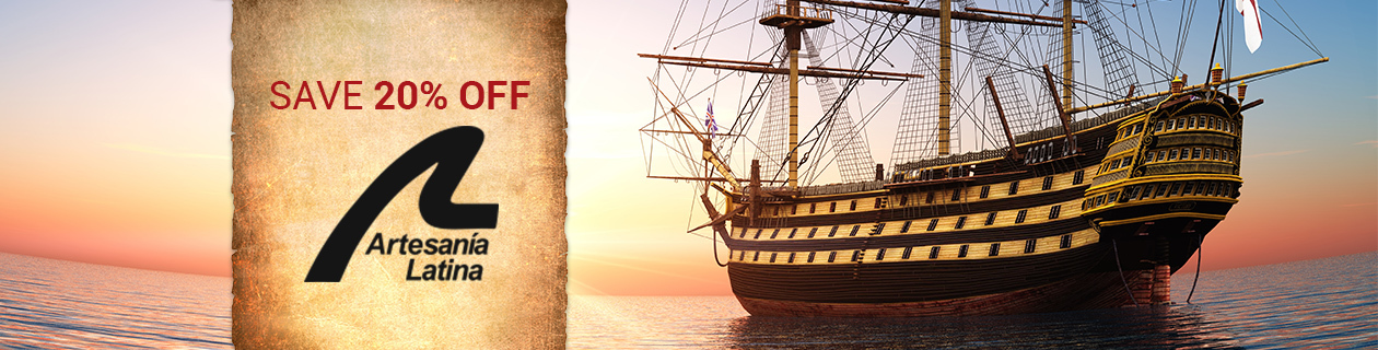 Save 20% off Artesania Latina & Billing Boats this month!