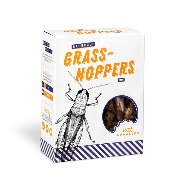Eat Crawlers: Barbecue Grasshoppers (10g)