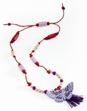 Djeco: Plum Butterfly Necklace