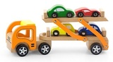 VIGA Wooden Toys - Car Carrier - Vehicle Set