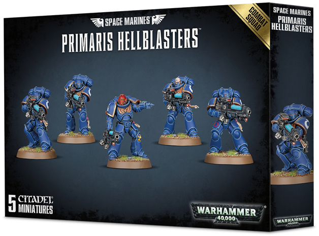 Warhammer 40,000 : Space Marines Primaris Hellblasters Combat Squad