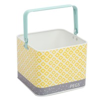 Urban Peg Bin - Aqua/Yellow