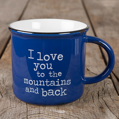 Natural Life: Camp Mug - Love Mountains