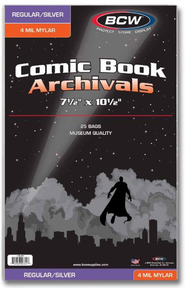BCW: Comic Book - 4-mil Mylar Archivals (Regular/Silver) image