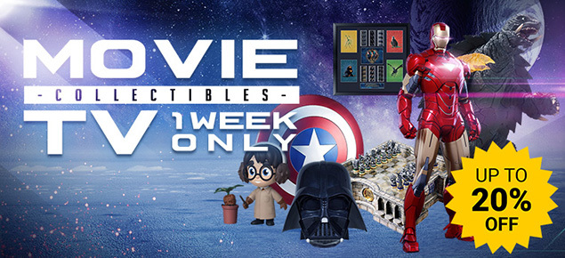 Up to 20% off Movie & TV Collectibles Sale!