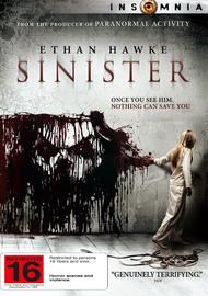 Sinister on DVD