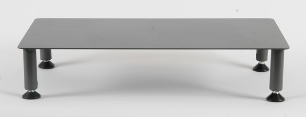 Fluteline Large High Monitor Stand Metal - Charcoal