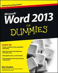 Word 2013 For Dummies by Dan Gookin