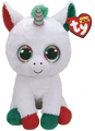 Ty Beanie Boo: Candy Cane Unicorn - Large Plush