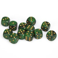 Chessex: D6 16mm Speckled Dice - Golden Recon
