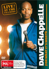Dave Chappelle - For What It's Worth: Live! At The Fillmore on DVD