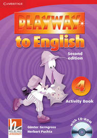 Playway to English Level 4 Activity Book with CD-ROM: Level 4 by Gunter Gerngross
