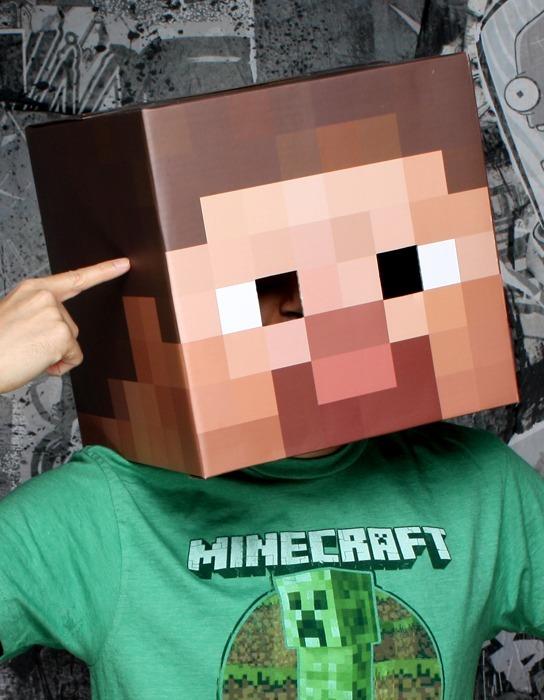Minecraft Steve Head Cardboard Prop Replica