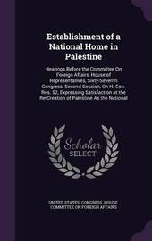 Establishment of a National Home in Palestine image