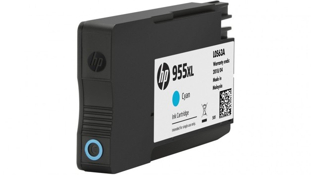 HP 955XL High Yield Ink Cartridge - Cyan