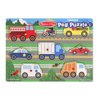 Melissa & Doug: Vehicles Peg Puzzle 8 Pieces