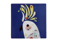 Maxwell & Williams: Pete Cromer Ceramic Square Tile Coaster - Cockatoo (9.5cm)