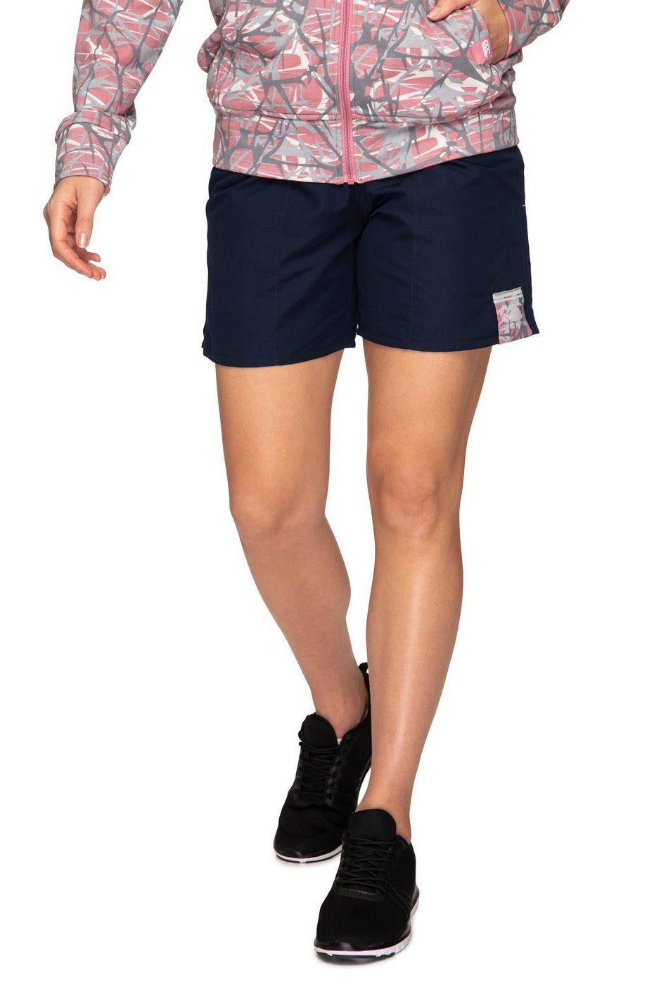 "Womens Camo Logo Tactic Short 5.9"" - Navy (Size 12) image"