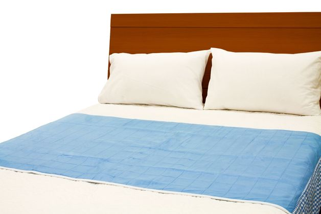Brolly Sheets: Double Sheet Bed Pad - Blue