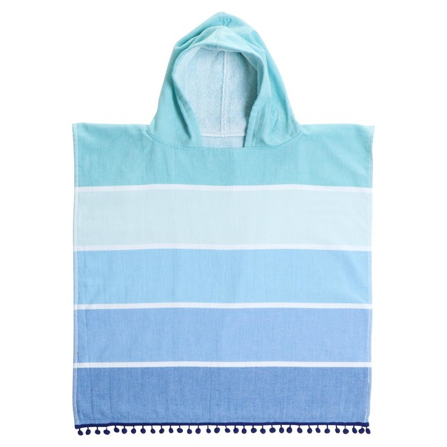 Sunnylife: Kids Hooded Fouta Towel - Caribbean