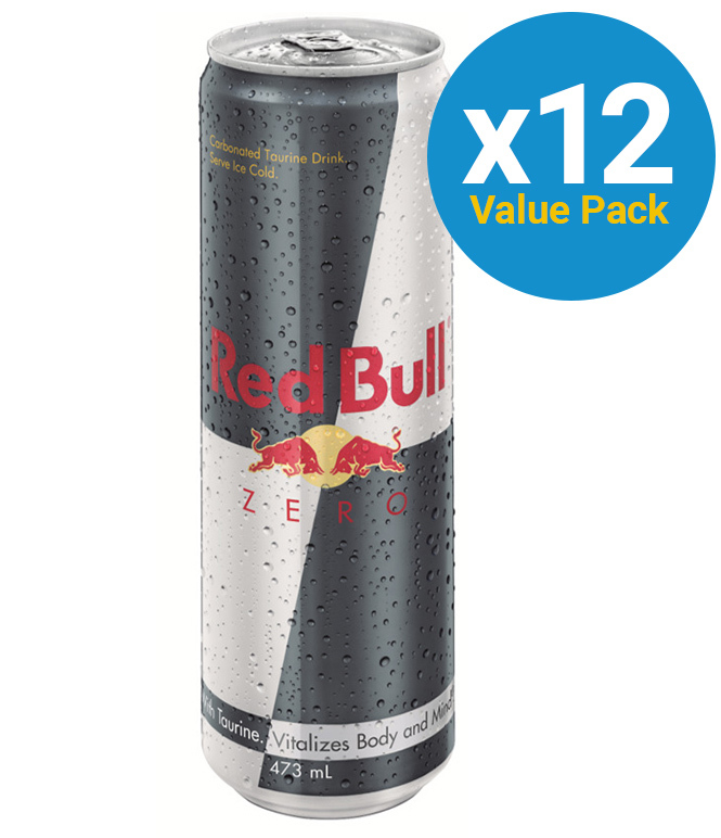 Red Bull Zero Energy Drink 473ml Cans (12 Pack) image