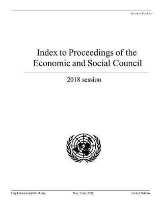 Index to Proceedings of the Economic and Social Council 2018