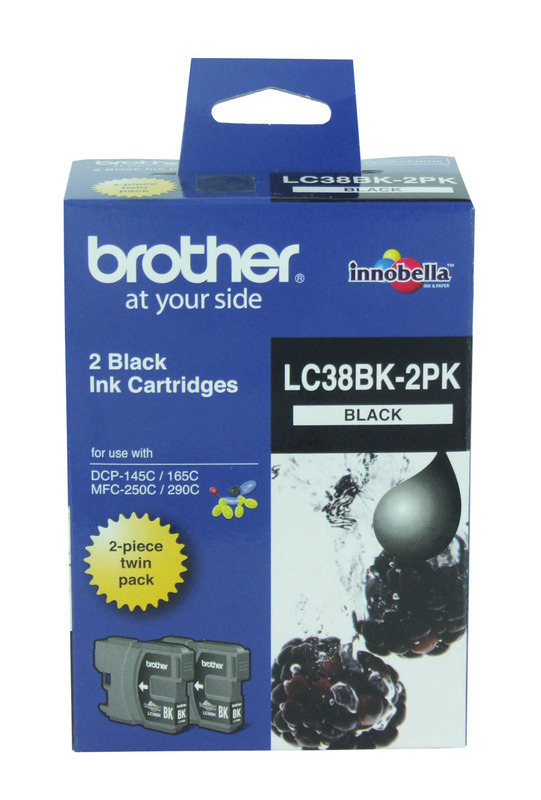 Brother LC-38BK2PK Ink Cartridge (Black) Twin Pack
