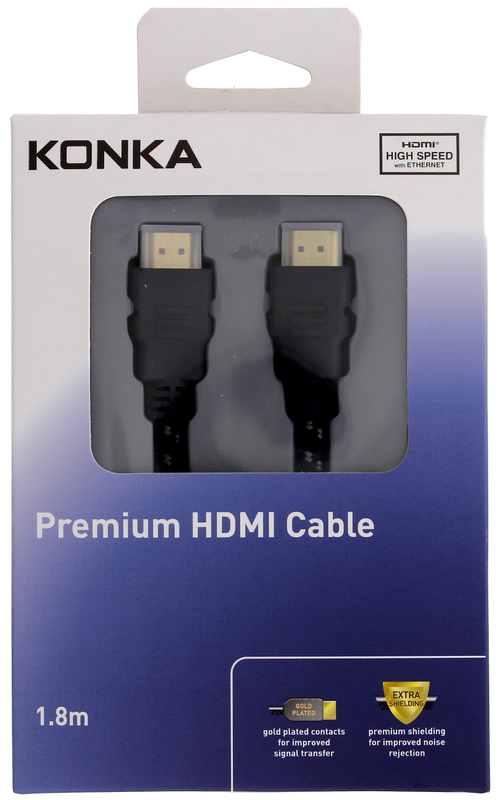 Konka 1 8m High Speed HDMI Cable with ethernet | at Mighty Ape NZ