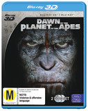 Dawn of the Planet of the Apes 3D (3D Blu-ray/Blu-ray) DVD
