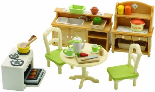 Sylvanian families country kitchen set toy at mighty for Kitchen set nz