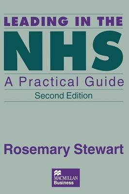 Leading in the NHS by Rosemary Stewart image
