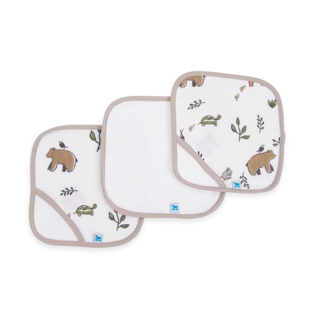 Little Unicorn - Cotton Wash Cloth - Forest Friends (3 Pack)