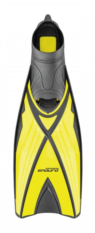 Mirage F019 Enduro Dive Fins (Yellow/Black) | Size: XL