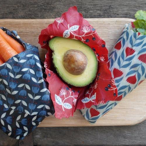 Apiwraps Kitchen Basics - Beeswax Food Wraps (Rainbows)