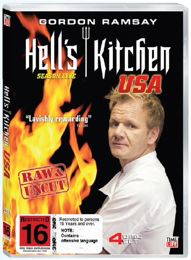 Hell's Kitchen USA - Season 5 (4 Disc Set) on DVD