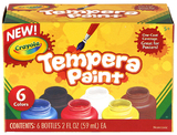 Tempera Paint Pack 6 Colours - Crayola