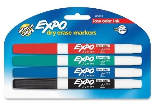 EXPO: Dry-Erase Whiteboard Marker Set - 4pc image