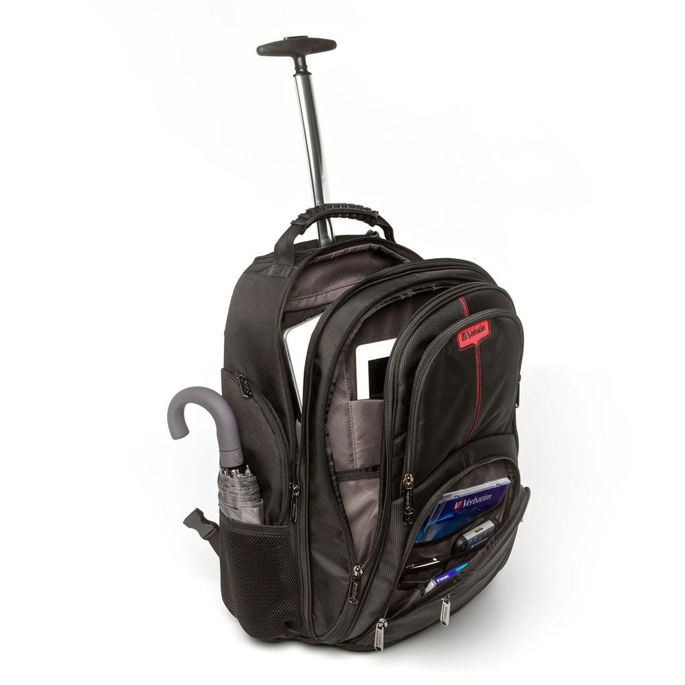 "Verbatim Paris Backpack Roller for 17"" Notebook image"