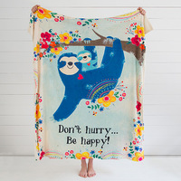 Natural Life: Cozy Blanket - Don't Hurry Be Happy