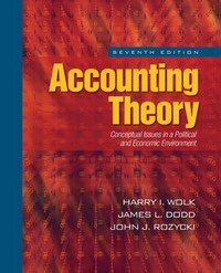 Accounting Theory: Conceptual Issues in a Political and Economic Environment by Harry I. Wolk image