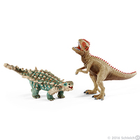 Schleich: Saichania and Giganotosaurus