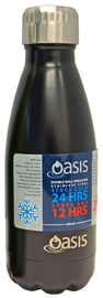Oasis Insulated Stainless Steel Water Bottle - Matte Black (350ml)