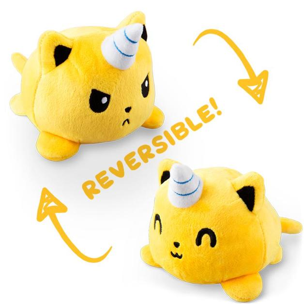 TeeTurtle: Reversible Mini Plush - Kittencorn (Yellow)